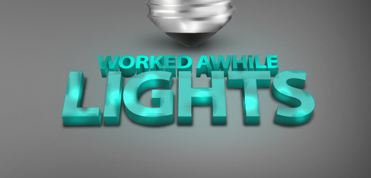 Worked Awhile Lights Icon Set